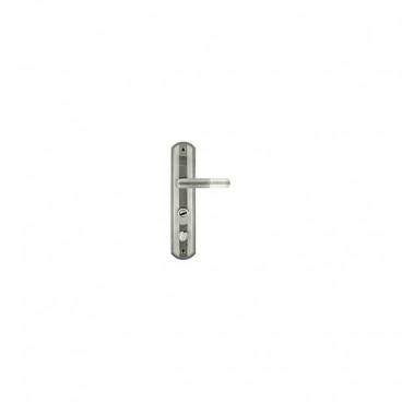 Ручка дверная на планке НОРА-М 301-68 мм левая (мат.хром)